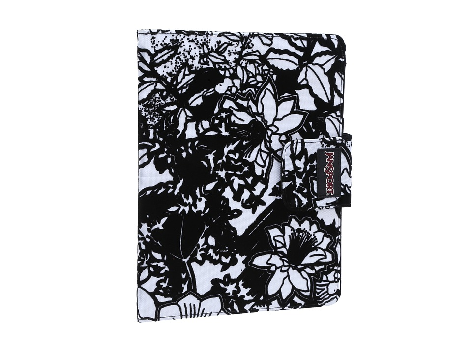 JanSport - 2.0 Folio For iPad(R) (White/Black Crayon Flower) Wallet