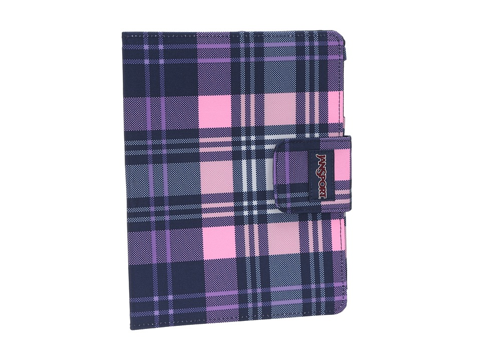 JanSport - 1.0 Folio For iPad (Pink Pansy Preston Plaid) Computer Bags