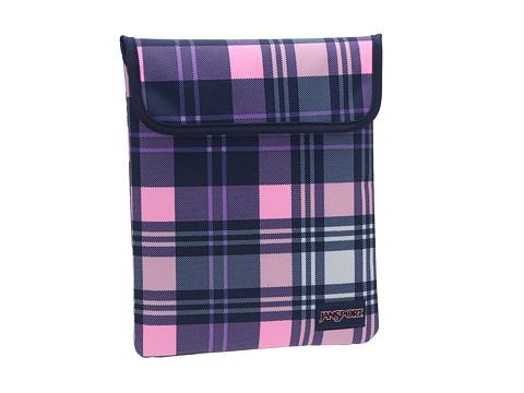 JanSport 1.0 Tablet Sleeve (Pink Pansy Preston Plaid) Wallet