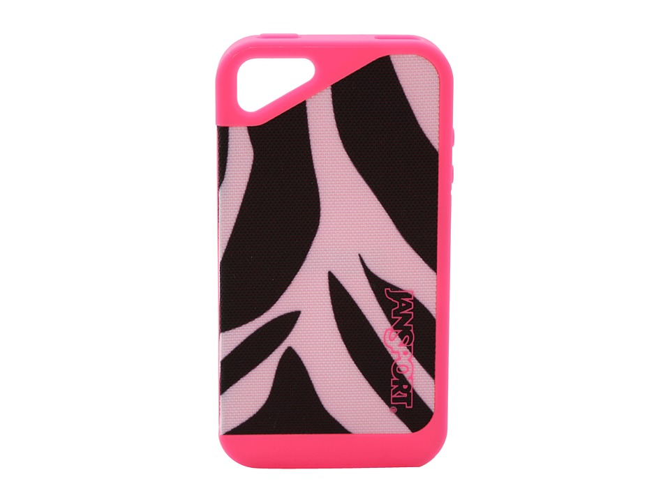 JanSport - Slipcase For iPhone 4 (Black/White/Fluorescent Pink Miss Zebra) Cell Phone Case