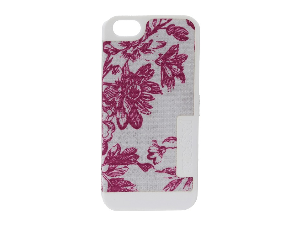 JanSport - Slipcase For iPhone 5 (White Vintage Floral Canvas) Wallet