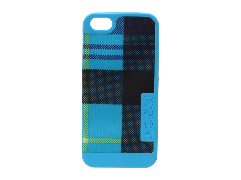JanSport - Slipcase For iPhone 5 (Mammoth Blue Preston Plaid) Wallet