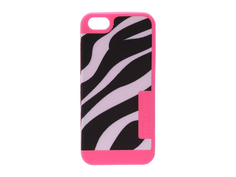 JanSport - Slipcase For iPhone 5 (Black/White/Pink Pansy Miss Zebra) Wallet