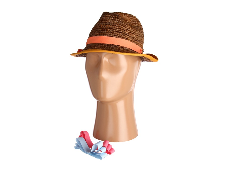 Hat Attack - Bound Edge Fedora Comes W/3 Ribbon Bands (Tobacco/Midtones) Fedora Hats
