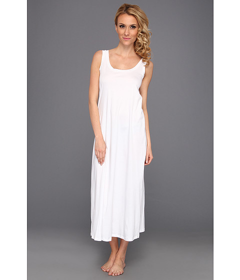 Hanro - Tonight Long Tank Nightgown (White) Women