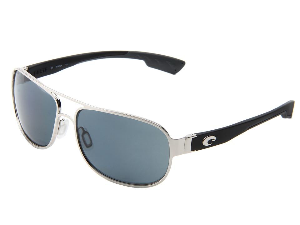 Costa - Conch 580 Plastic (Palladium/Gray 580 Plastic Lens) Sport Sunglasses