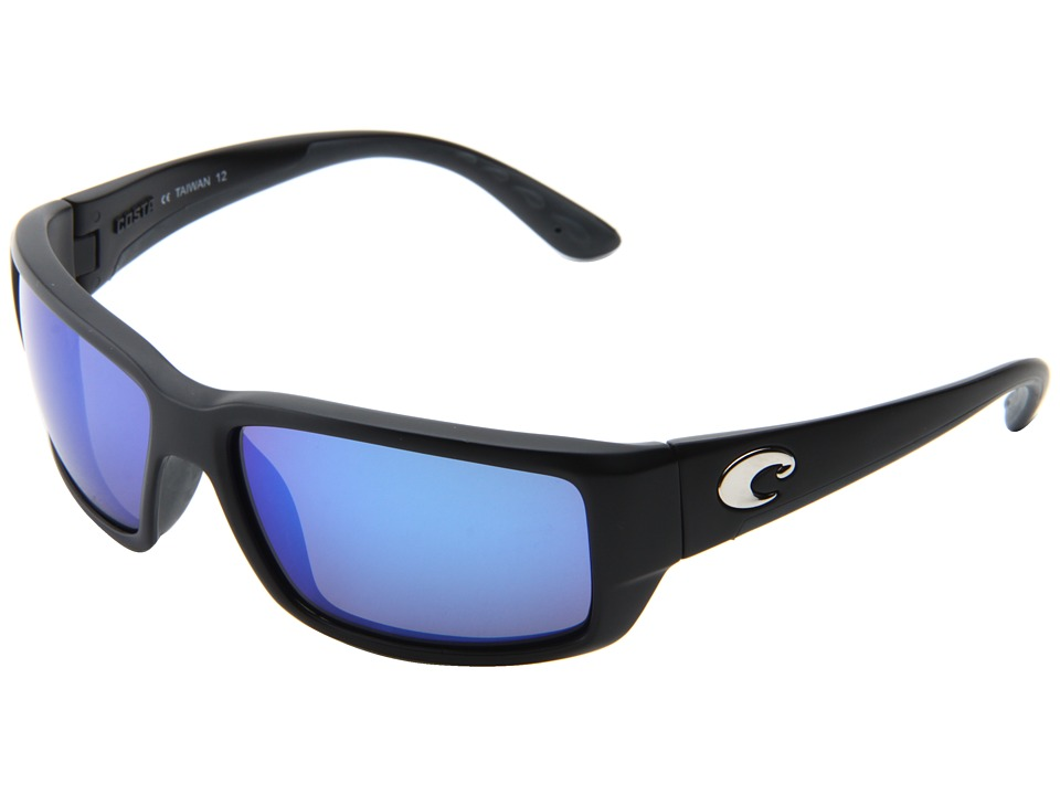 Costa - Fantail 400 Mirror Glass (Black/Blue Mirror 400 Glass Lens) Sport Sunglasses