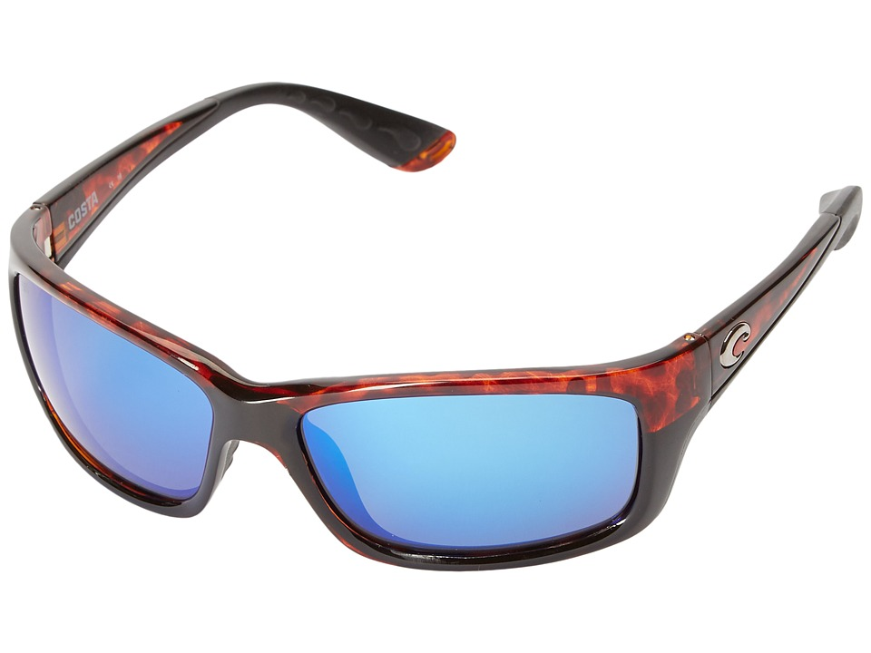 Costa - Jose 580 Mirror Glass (Tortoise/Blue Mirror 580 Glass Lens) Sport Sunglasses