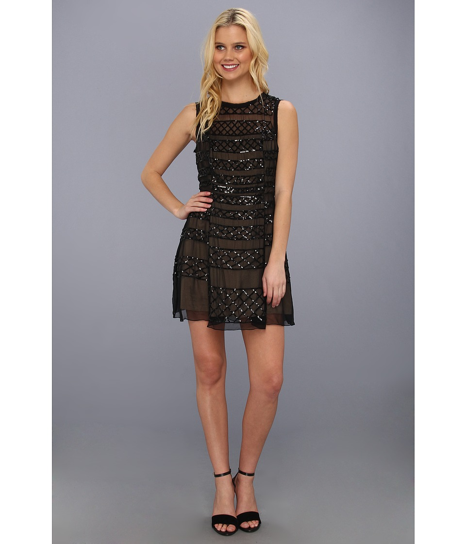 Nicole Miller Kamikaze Sequin Dress Womens Dress (Black)
