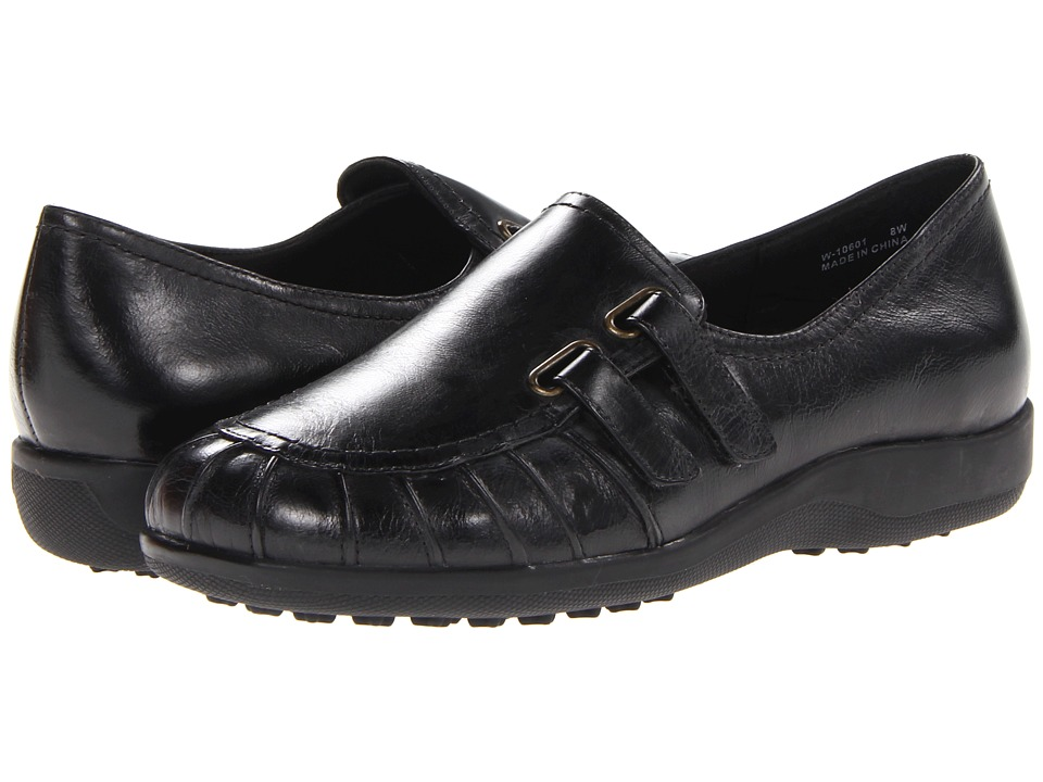 Walking Cradles - Accent (Black Waxy Soft Leather) Women