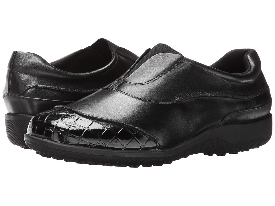 Walking Cradles - Addie (Black Leather) Women's Shoes