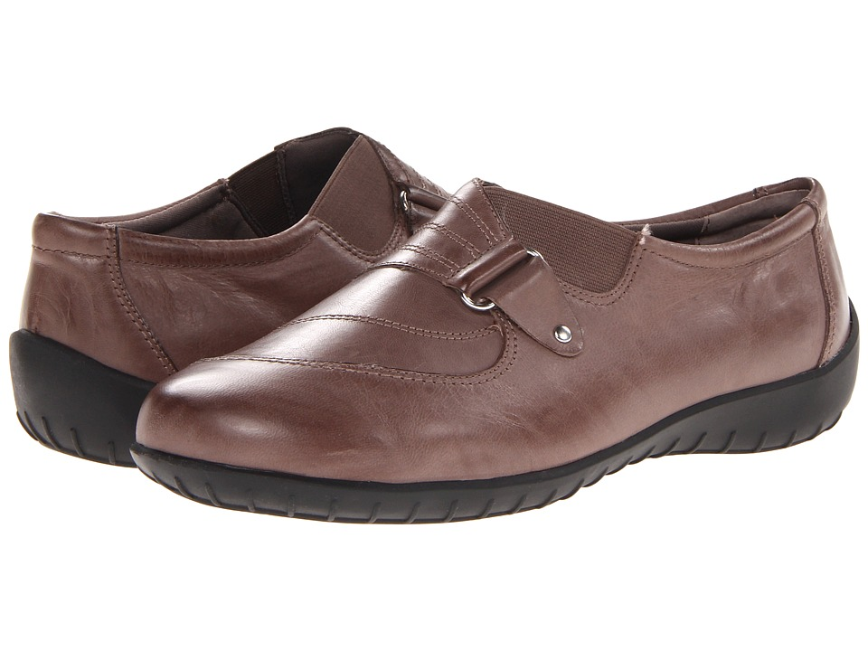 Walking Cradles - Claudia (Taupe Waxy Soft Leather) Women's Slip on Shoes