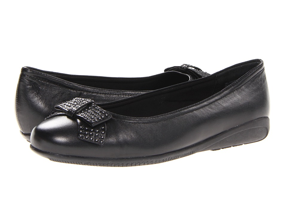Walking Cradles - Satin (Black Leather) Women