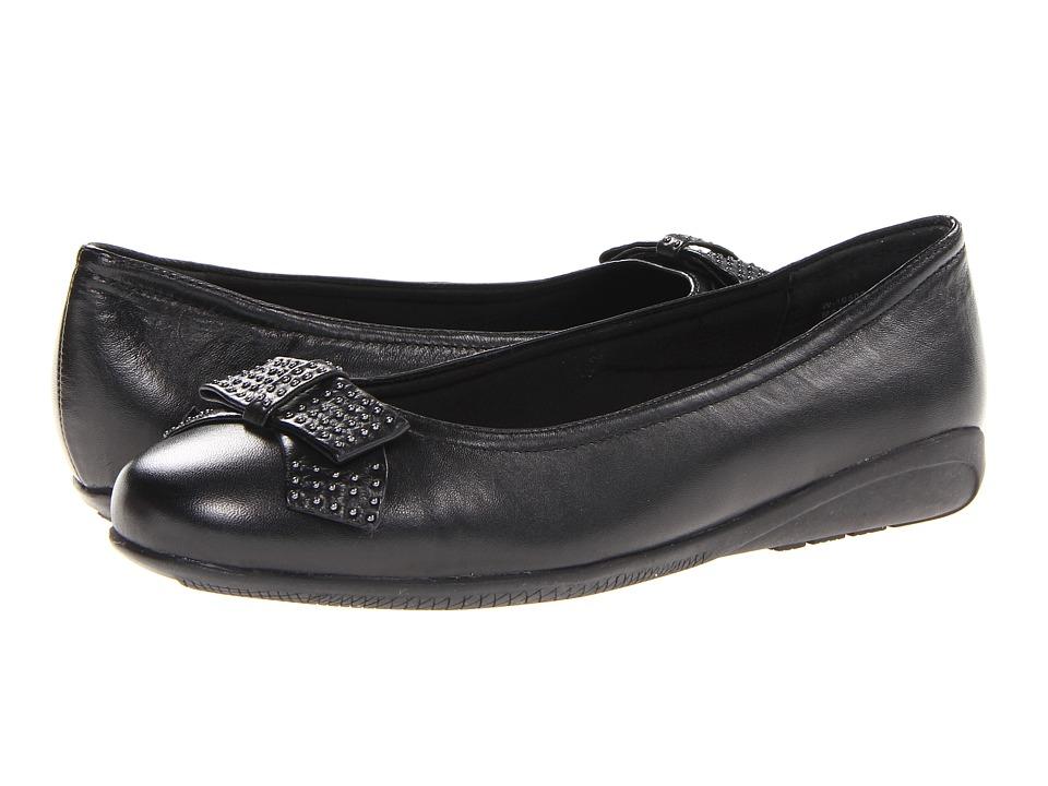 Walking Cradles - Satin (Black Leather) Women's Shoes