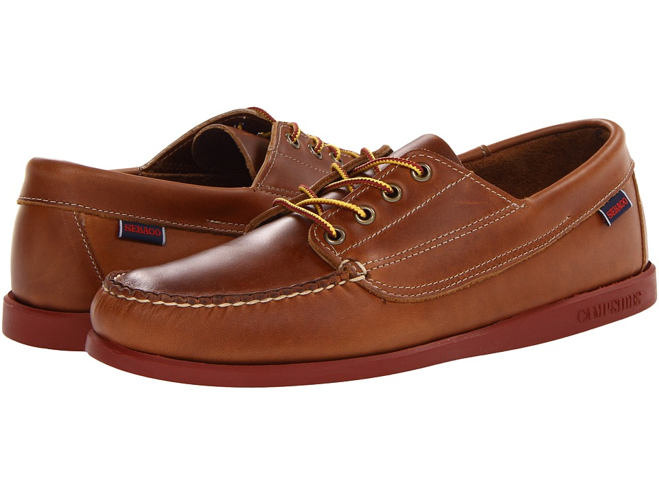 Sebago - Campsides (Cognac) Men's Lace Up Moc Toe Shoes