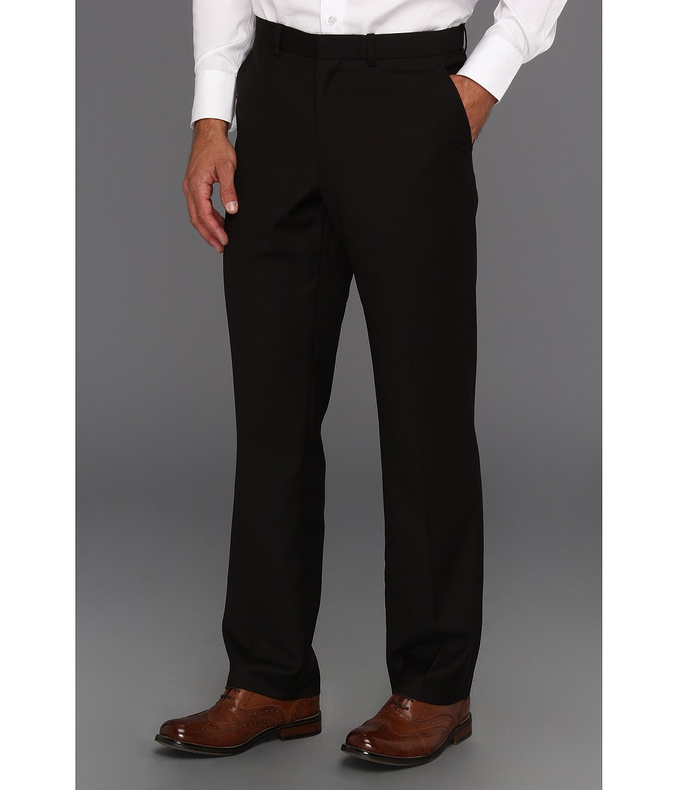 Perry Ellis - Regular Fit Solid Suit Pant (Black) Men's Dress Pants