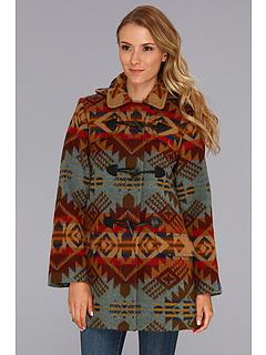 SALE! $174.99 - Save $223 on Pendleton Tillamook Toggle Coat (Journey West Jacquard) Apparel - 56.03% OFF $398.00