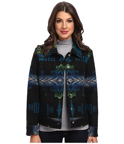 Pendleton - Rodeo Star Coat (Black Evening Star Jacquard) Women