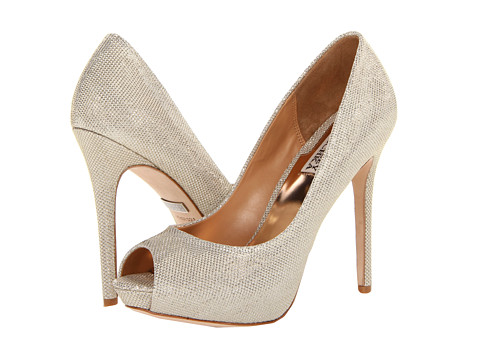Badgley Mischka - Drama (Platino Metallic Mesh) High Heels