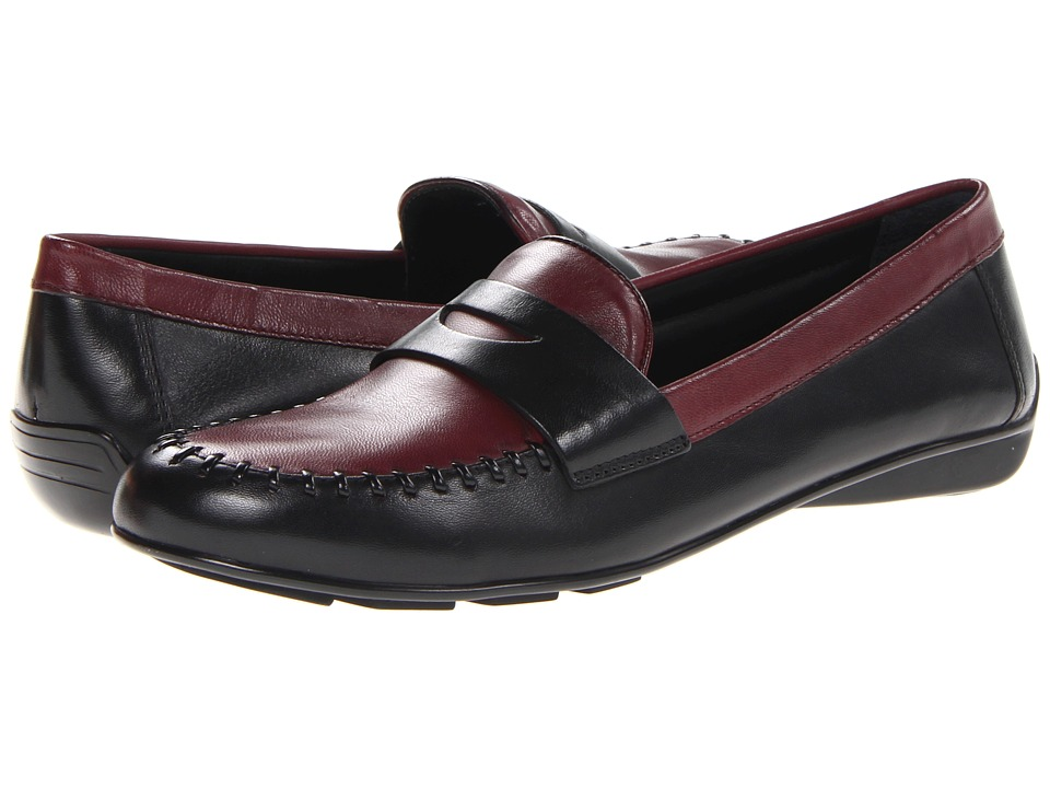 Walking Cradles - Minty (Black/Bordeaux Combo) Women's Slip on Shoes