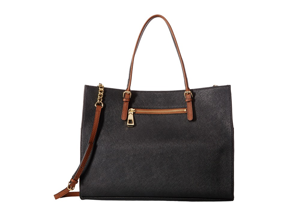 Calvin Klein - Key Items Tote (Black/Luggage) Tote Handbags