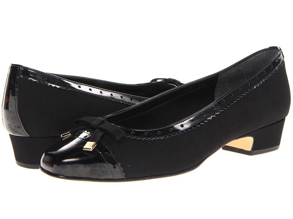 Rose Petals Dillon (Black Micro/Patent) Women