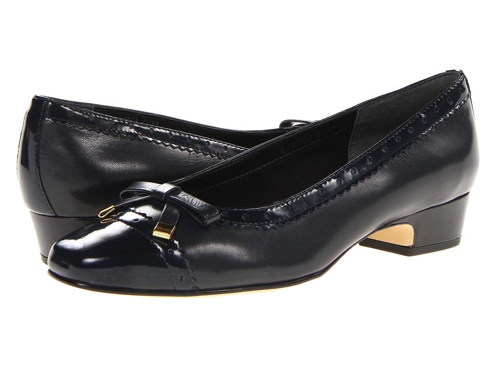 Rose Petals - Dillon (Navy Kid/Patent) Women's Shoes