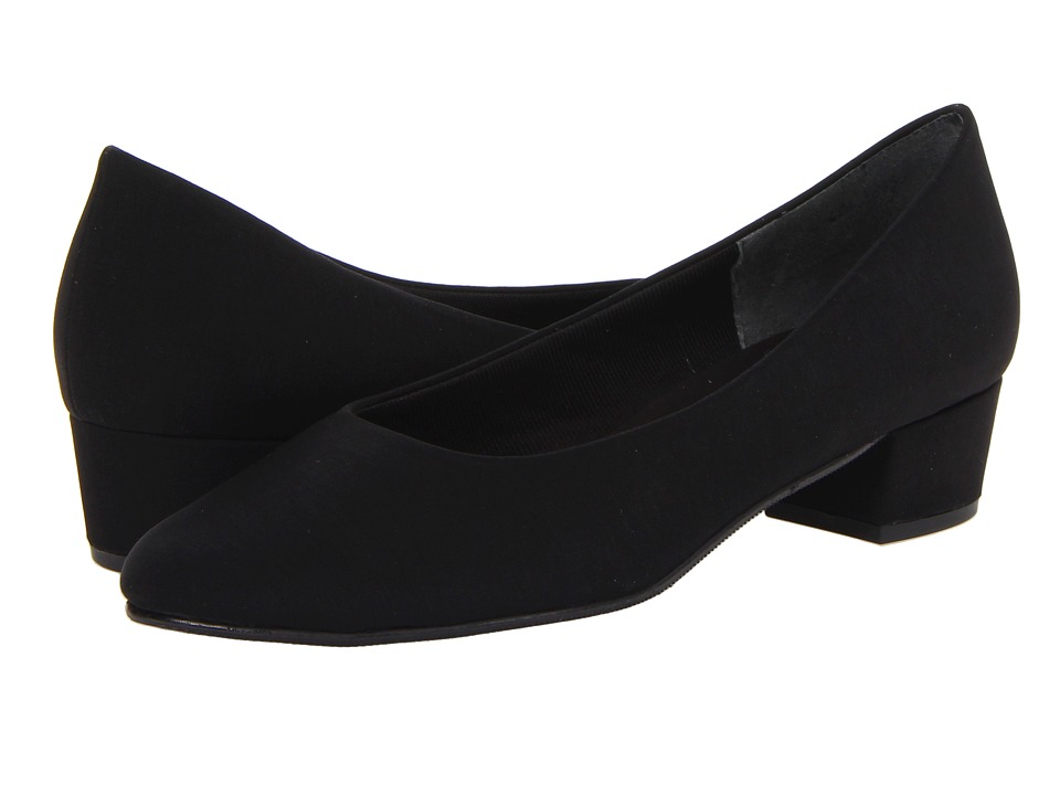 Rose Petals - Emma (Black Micro) Women's Shoes