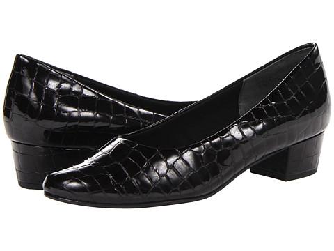 Rose Petals - Emma (Black Croc) Women's Shoes