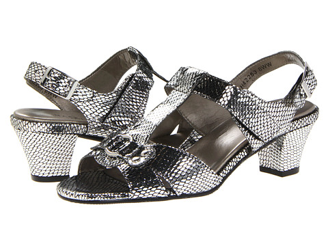 Rose Petals - Lottie (Silver Snake Print) Women's Dress Sandals