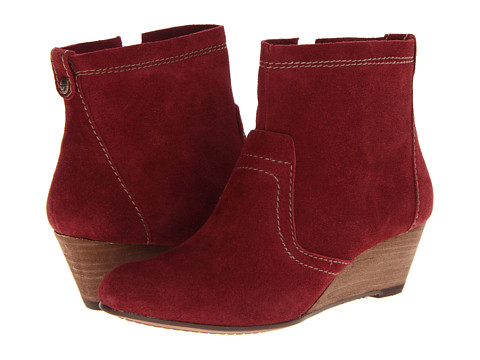Calvin Klein Jeans - Shayla (Wine Suede Warm Grey Tumbled Leather) Women's Dress Zip Boots