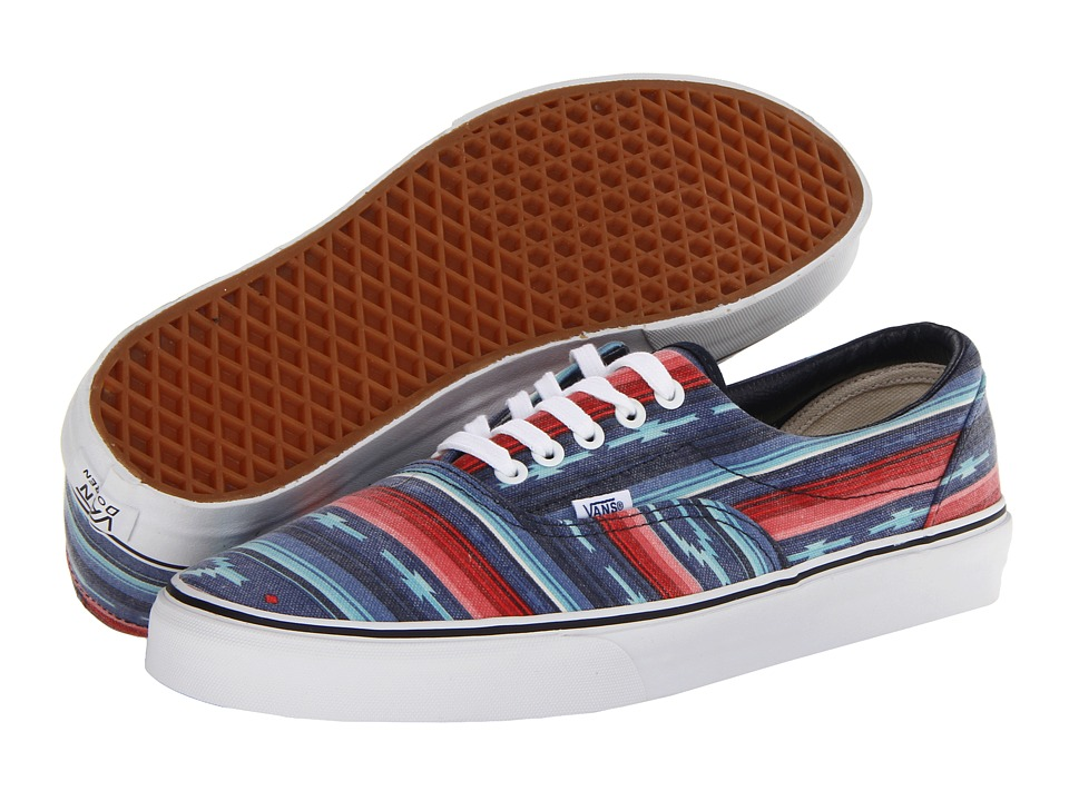 Vans - Era ((Van Doren) Multi Stripe/Blue) Skate Shoes