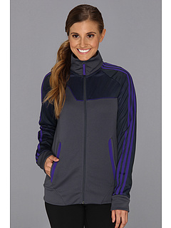 SALE! $34.99 - Save $40 on adidas Speedkick Track Jacket (Dark Onix Blast Purple) Apparel - 53.35% OFF $75.00