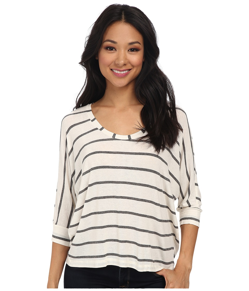 Splendid - Striped Drapey Dolman (Bone) Women's Clothing