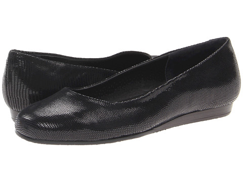 Rose Petals - Fine (Black Patent Lizard Leather) Women