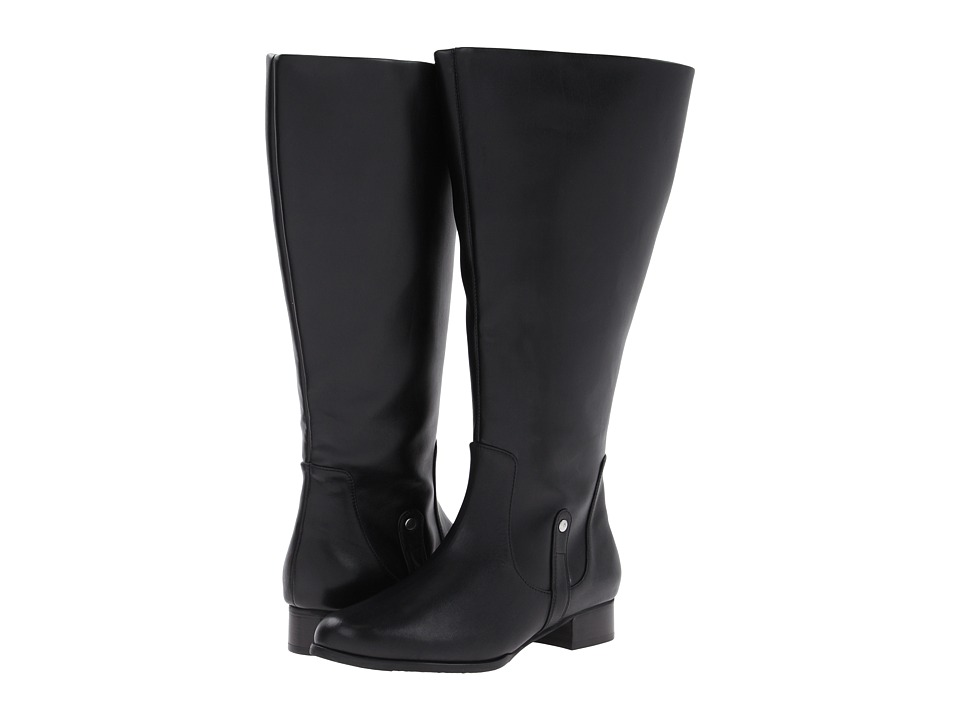 Rose Petals - Sammi (Wide Calf) (Black Softy Calf) Women's Boots