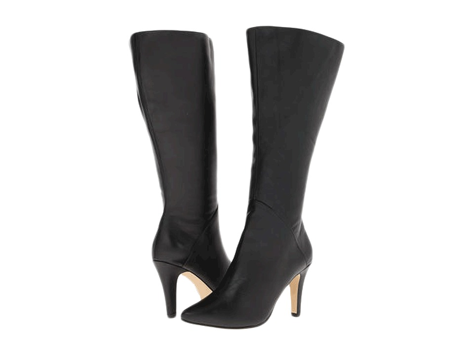 Rose Petals - Portland - Wide Shaft (Black Softy Calf) Women's Boots