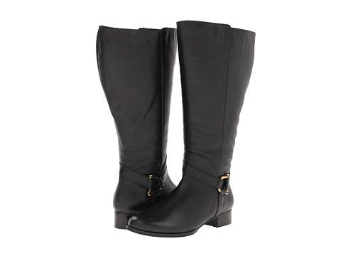 Rose Petals - Atom Extra Wide Shaft (Black Softee Calf) Women's Boots