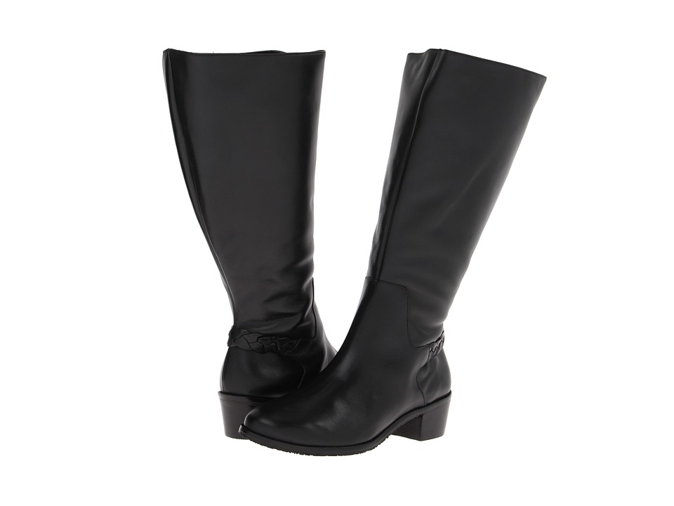Rose Petals - Curly (Wide Calf) (Black New Softy) Women's Boots
