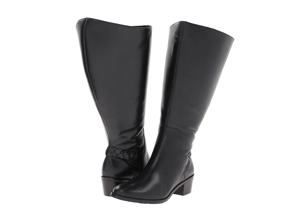 Rose Petals - Curly (Extra Wide Calf) (Black New Softy) Women's Boots