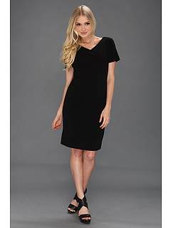 SALE! $39.99 - Save $88 on Tahari by ASL S S Bi Stretch Basic Shift (Black) Apparel - 68.76% OFF $128.00