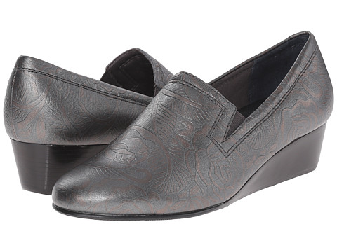 Rose Petals - Marin (Antique Pewter Tooled) Women's Wedge Shoes