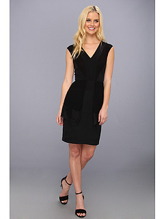 SALE! $154.99 - Save $230 on Nicole Miller Rae Tiered V Neck Dress (Black) Apparel - 59.74% OFF $385.00