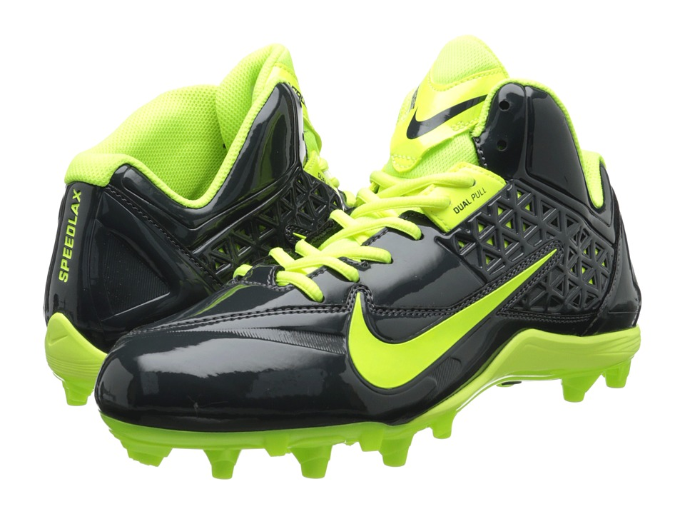 Nike - Speedlax 4 (Anthracite/Volt) Men's Cleated Shoes
