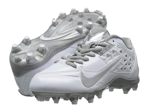 Nike - Speedlax 4 (White/Metallic Silver) Women's Cleated Shoes