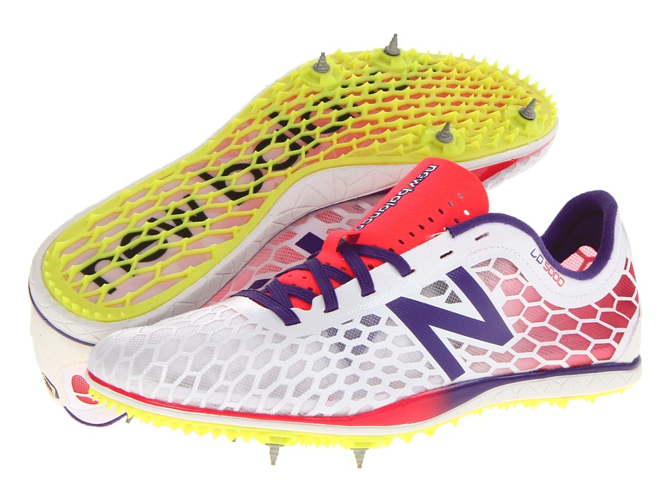 New Balance - WLD5000 (White/Pink) Women's Track Shoes