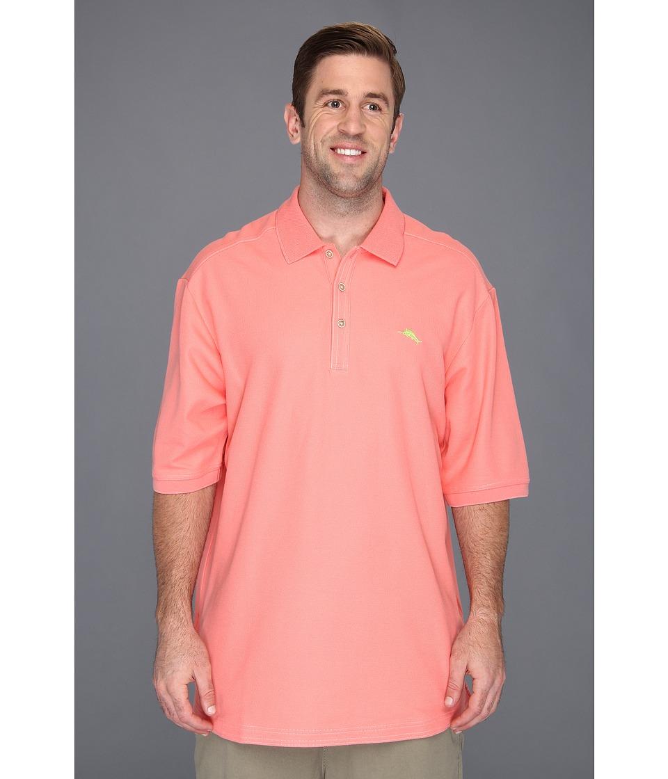 Tommy Bahama Big & Tall Big Tall Emfielder Polo Shirt Mens Short Sleeve Pullover (Red)