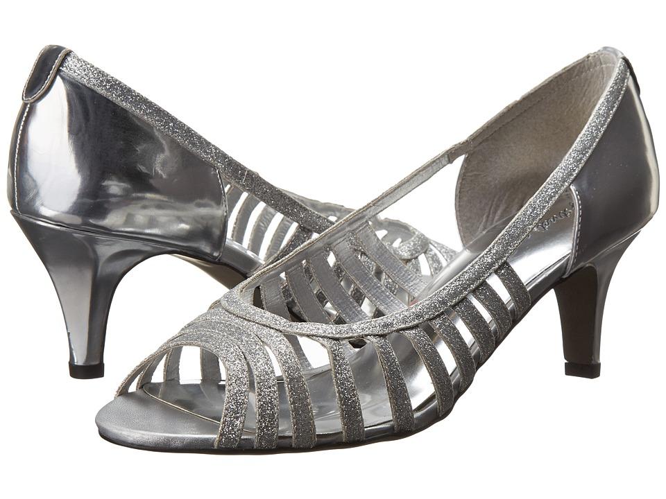 Easy Street Sparkle (Silver Glitter w/Easy Flex Dance Sole) High Heels