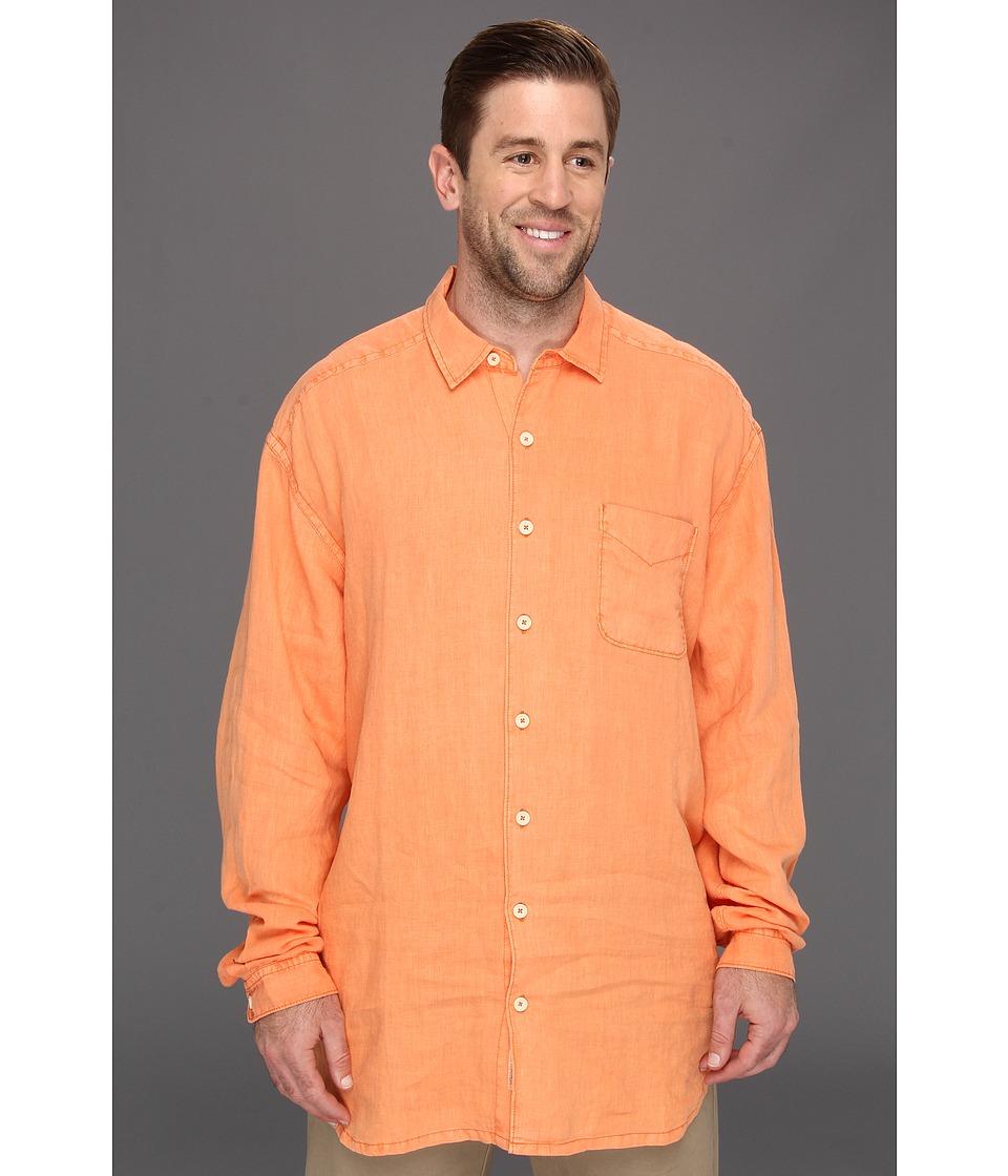 Tommy Bahama Big & Tall Big Tall Beachy Breezer L/S Shirt Mens Long Sleeve Button Up (Orange)