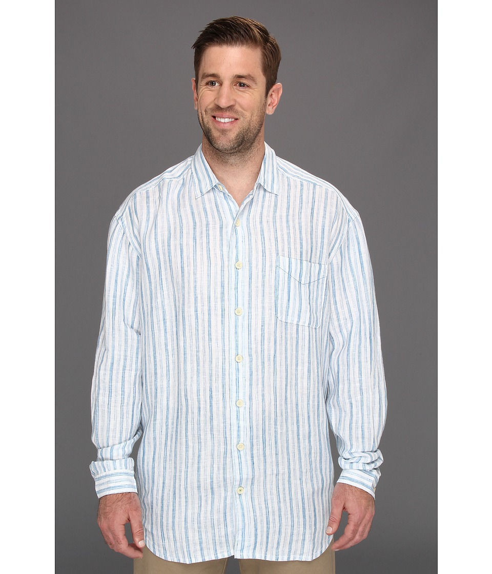 Tommy Bahama Big & Tall Big Tall Relax Academy L/S Shirt Mens Long Sleeve Button Up (Blue)
